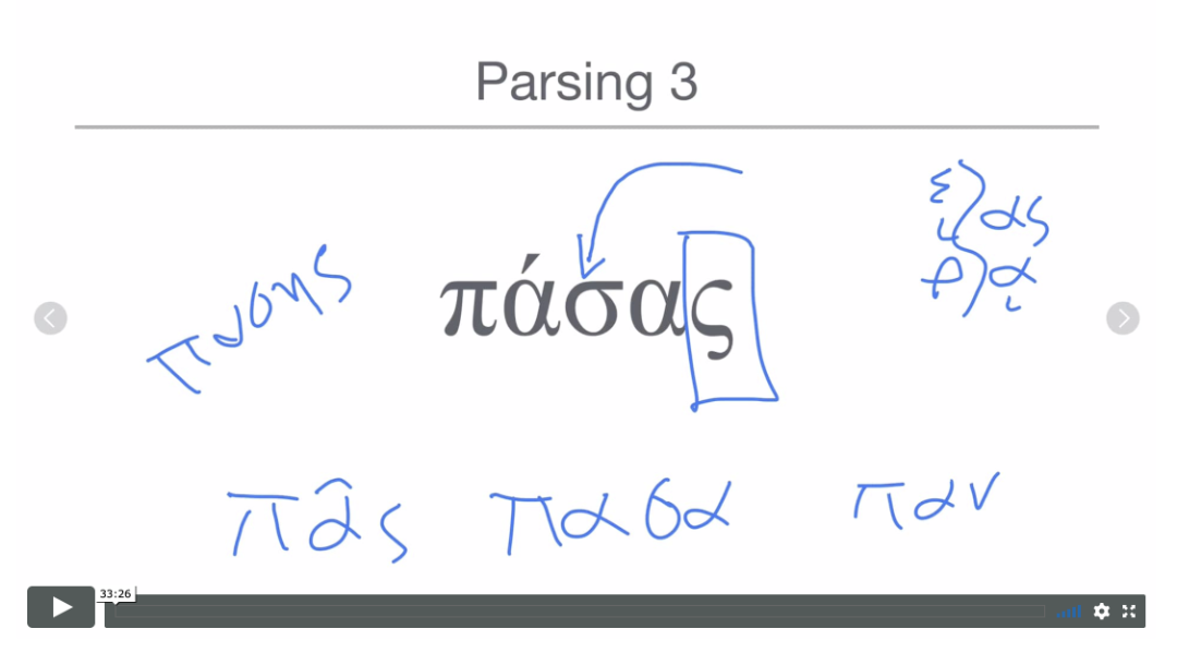 Parsing screencast